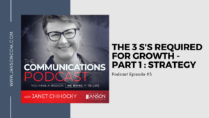 The 3 S's Required for Growth | Part 1: Strategy