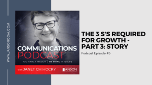 The 3 S's Required for Growth | Part 3: Story