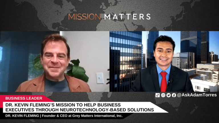 Dr. Kevin Fleming's Mission to Help Business Executives through Neurotechnology-Based Solutions